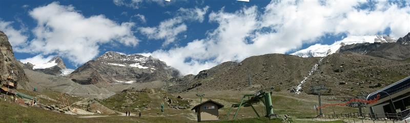 Weissmiess 4.027m  Lagginhorn 4.010m