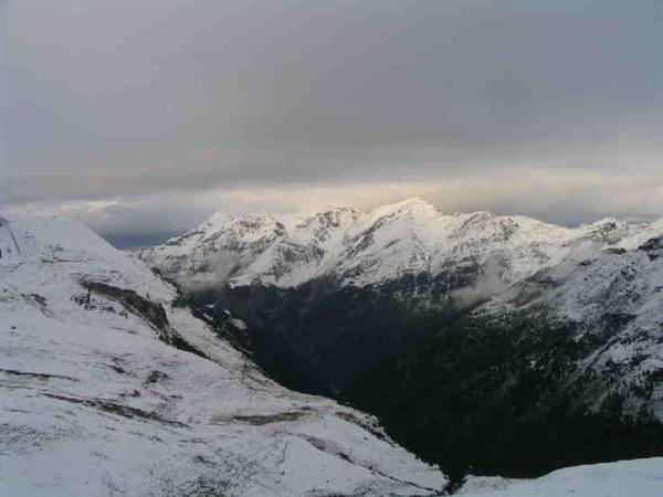 Letní Dolomity v zimním hávu